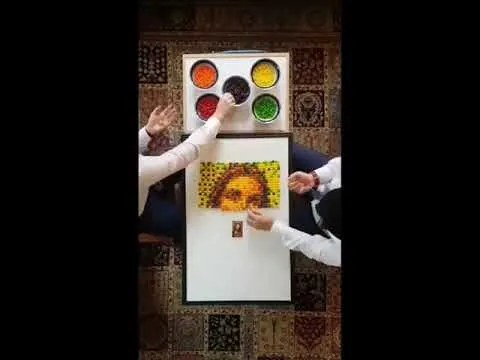 Missionaries Record Time-Lapse Video as They Create Picture of Christ Using Skittles