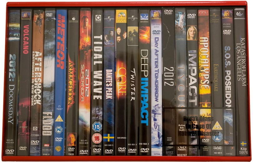 20 different DVD:s on the matter of disasters and the end.
