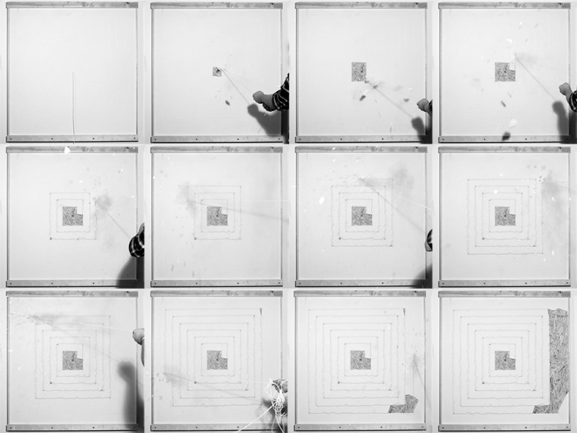 12 pictures of different time periods for one of the white boxes.