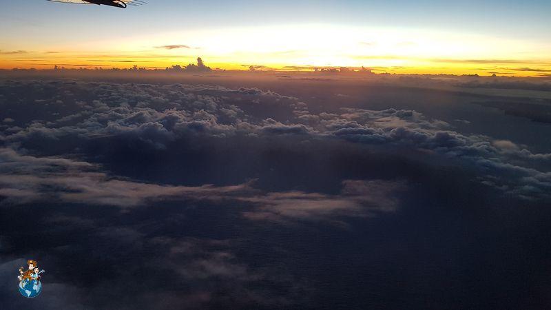 Atardecer desde la avioneta de Mokulele Airlines - Big Island