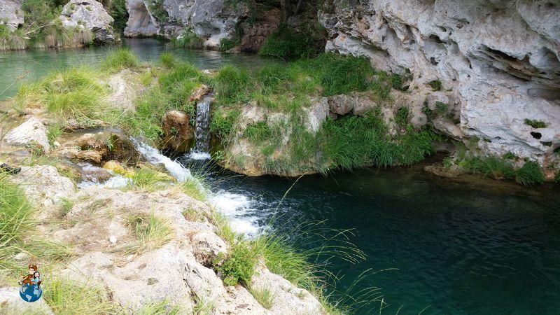 Piscina natural donde bañarse en el Parrizal de Beceite