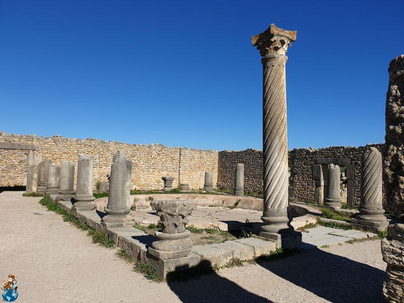 Casa de Efebo y Casa de las columnas - Volubilis