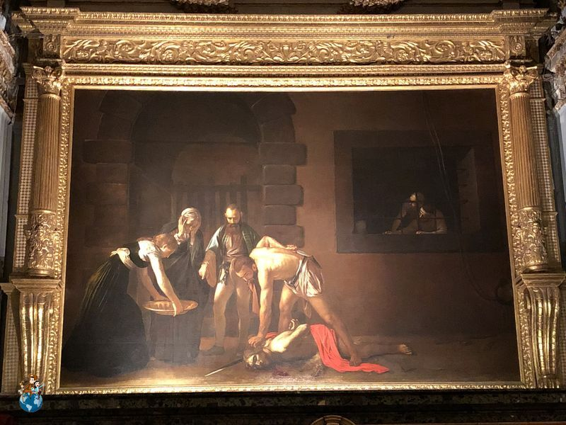 La decapitación de San Juan Bautista en la Concatedral de San Juan - La Valeta