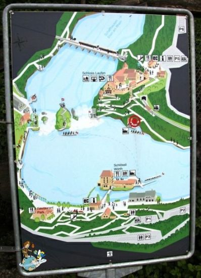 Mapa Cataratas Rin