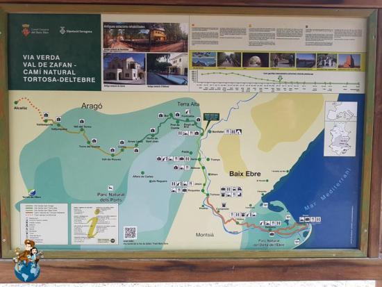 Mapa de la Vía Verde de la Val de Zafán