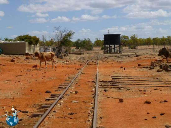 Vías de tren abandonadas en Australia
