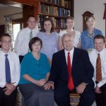 Our family. Left to right:  (back row) Anthony, Rachel, Rebecca, Mary Ann; (front row) Bob, Shannon, Michael, John