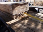 A ton or two (literally) of lumber in the trailer, all rigged up for John's idea