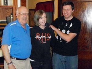 Grandpa, Mary Ann, and John