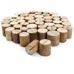 50 Rustic Natural Wood Wedding Birthday Name Place Card Table Holder Diy Ebay