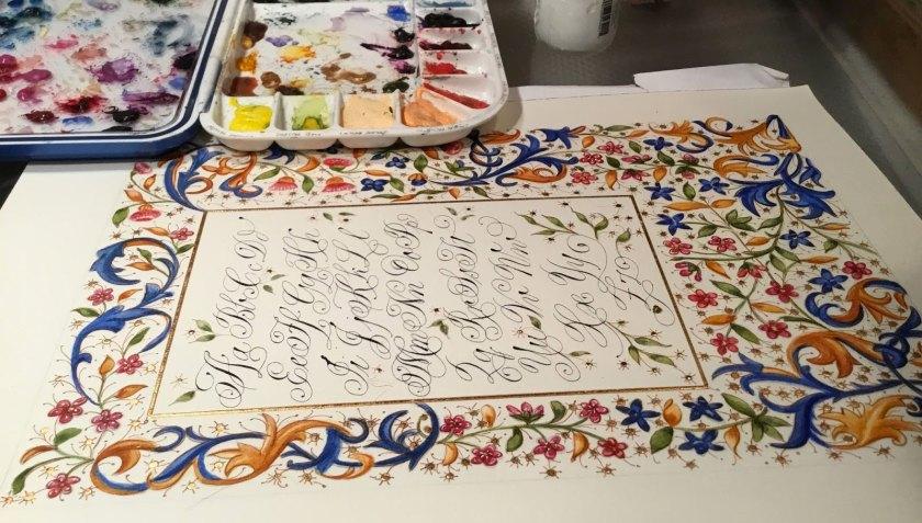 heather held calligraphy