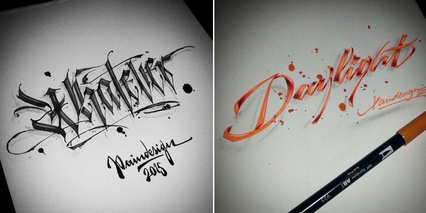 paindesignart calligraphy