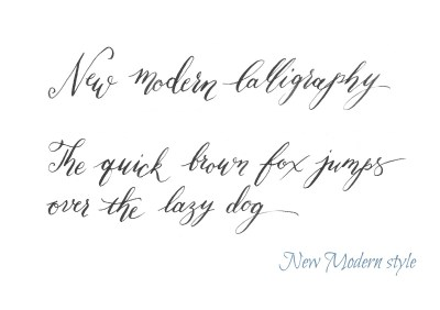New Modern Calligraphy