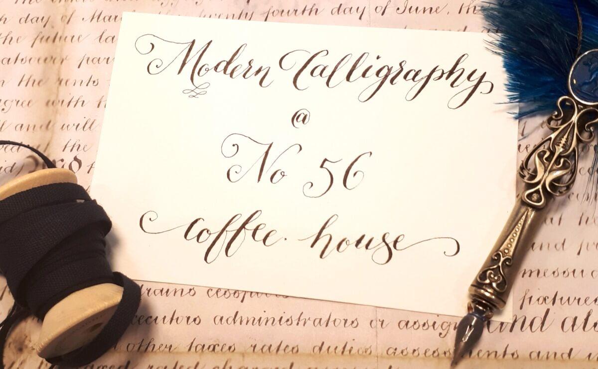 Modern calligraphy at No56 Kibworth