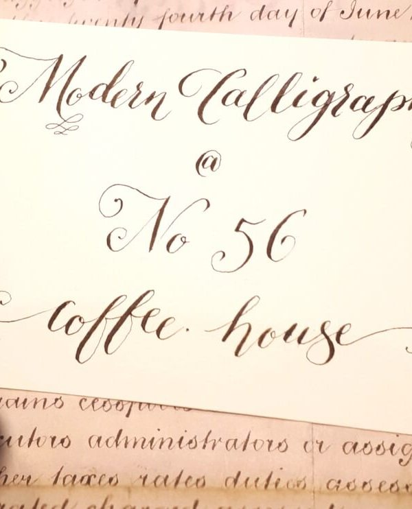Modern calligraphy at No56 Kibworth