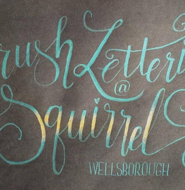 Squirrel Brush Lettering Workshop
