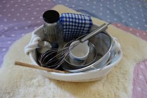 Panier Montessori : ustensiles de la cuisine