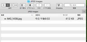 Jpeg Imagesフォルダ