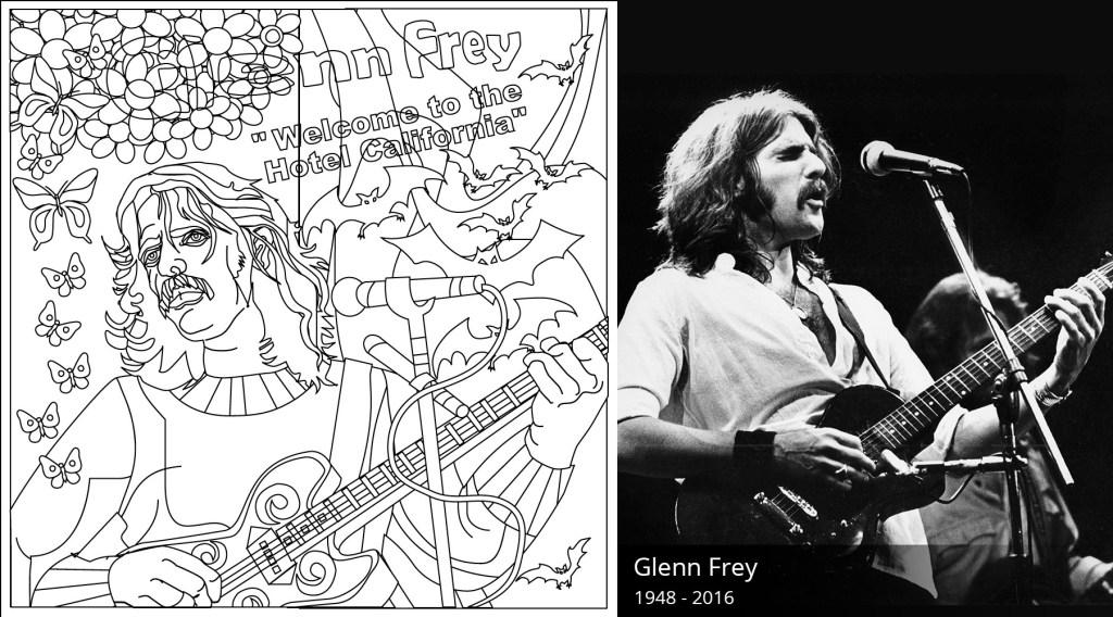 Glenn Frey Coloring