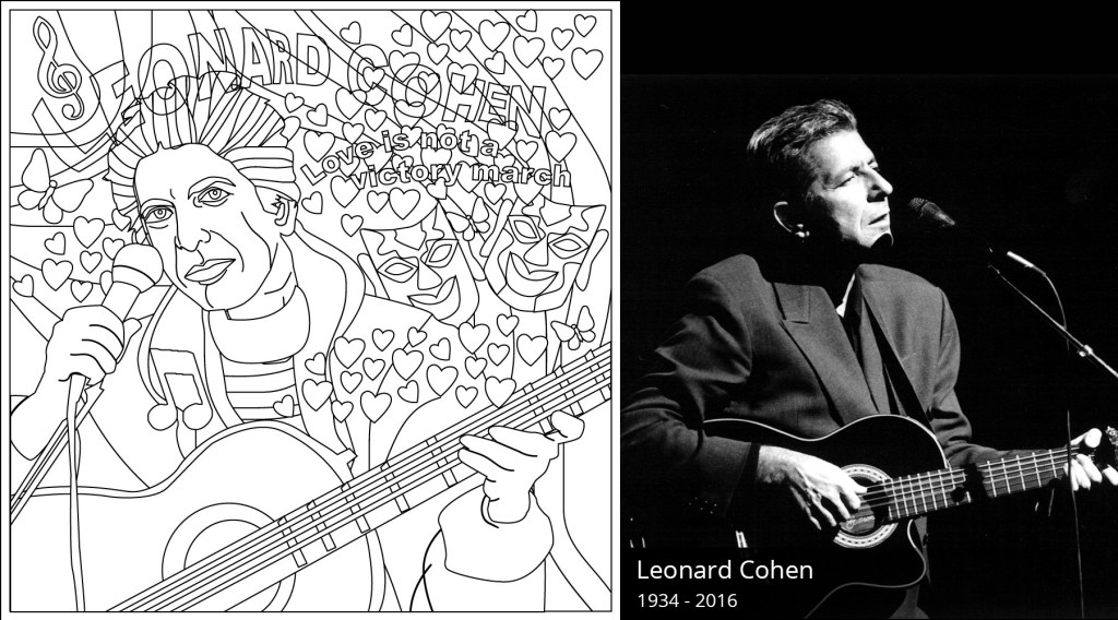 Leonard Cohen Coloring