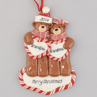 A Grandpa and Grandma Personalized Ornament