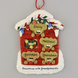 Grandparents Home Personalized Christmas Ornament