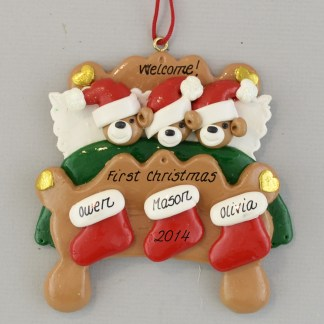 Welcome Adopted Child Personalized christmas Ornaments