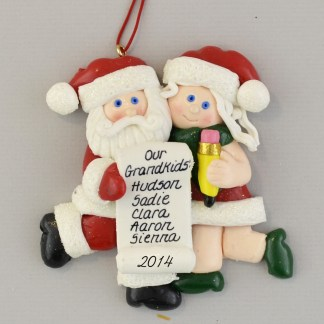 Family List Personalized Christmas Ornaments