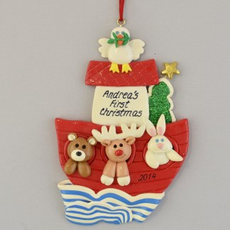 Noah's Ark Personalized christmas Ornaments