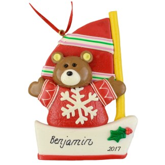 Sailor Bear Personalized christmas ornaments