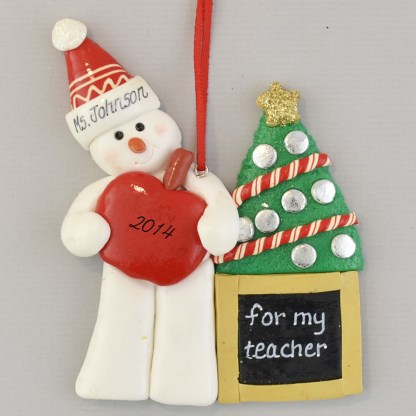 Snowman Teacher Personalized christmas Ornaments