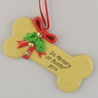 In Memory of Our Dog Personalized christmas Ornaments