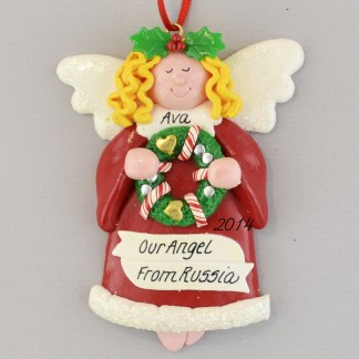Our Adopted Angel Personalized christmas Ornaments - Blonde hair