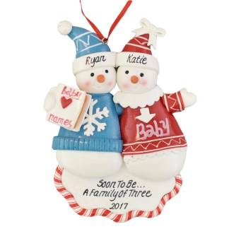 A Pregnant Couple Personalized christmas ornaments