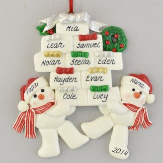 Grandparents of Ten Personalized Ornament