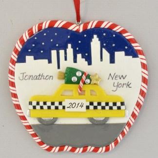 New York Skyline personalized Christmas Ornaments