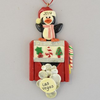 The Las Vegas Slot Machine personalized christmas ornaments