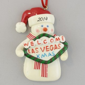The Las Vegas Snowman Personalized christmas Ornaments