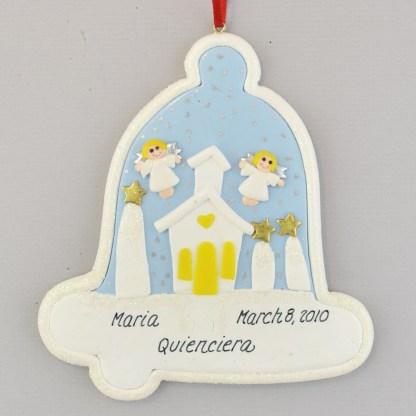 Quienciera Christmas Claydough Ornament