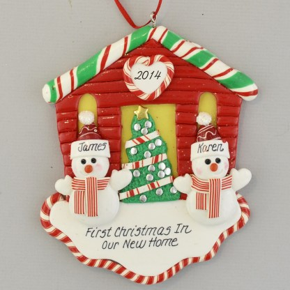 First Christmas New House for A Couple Personalized Ornaments
