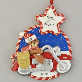 Motorcycle Personalized Christmas Ornament