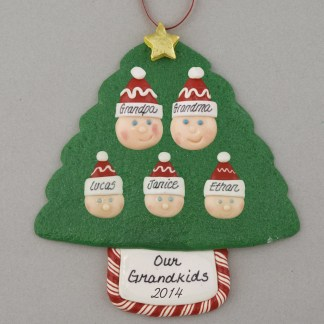 Grandparents of 3 Personalized Christmas Ornaments