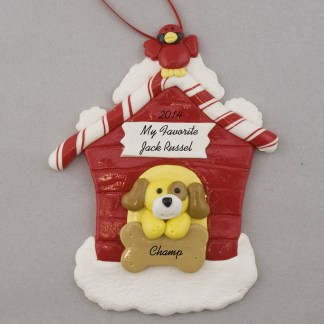 My Dog at Home Personalized christmas Ornaments