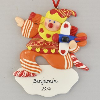 Clown with Airplane Personalized christmas Ornaments