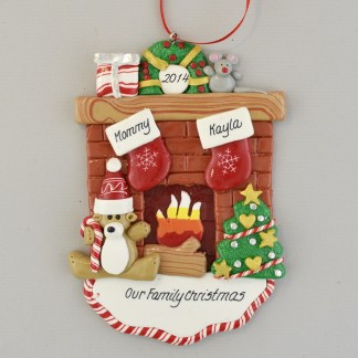 Our Family Christmas with Mommy Personalized Christmas Ornament