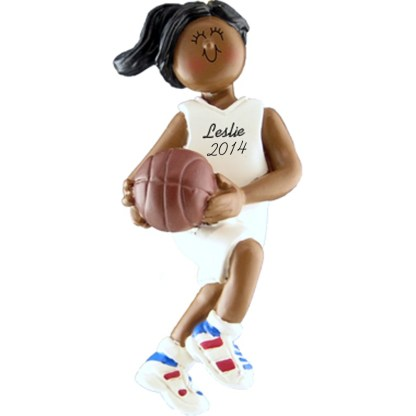 Basketball Player: Female, personalized christmas ornament
