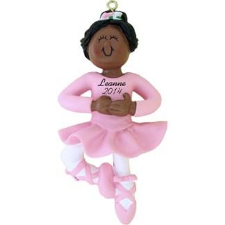 Ballerina: Ethnic Personalized Christmas christmas Ornament