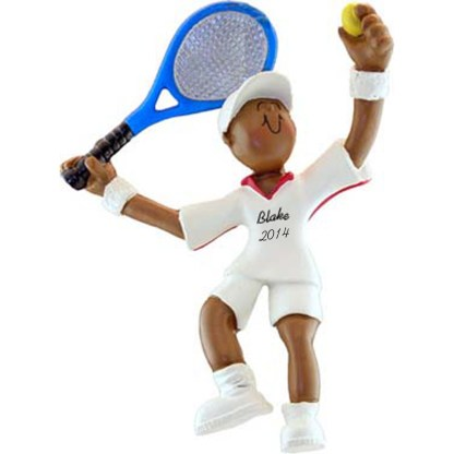 Tennis Player Male Personalized christmas Ornament