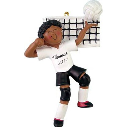 Volleyball Player Male Personalized christmas Ornament