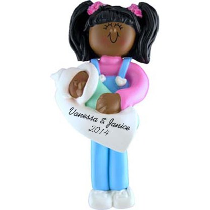 Big Sister: Ethnic Personalized christmas Ornament